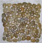 Yellow mosaic pebble tile