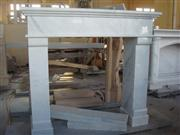 White Marble Fireplace Frame