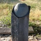 Black Color Basalt Garden Carving