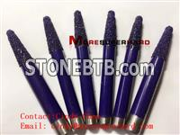Vacuum brazed diamond grinding head, pins and mounted for engraving stone, granite