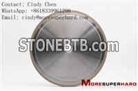 14A1 200mm Metal bond diamond grinding wheel for glass