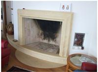 Fireplace with Bianco Avorio Limestone
