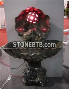Marble & Granite Fountain with Light