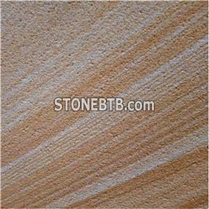 Sawn Teakwood Sandstone Texture Pool Coping Tiles Retaining Wall Cladding