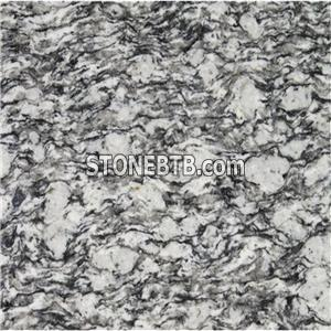 Spray White Sea Wave Granite Slabs For Countertops And Stone Steps