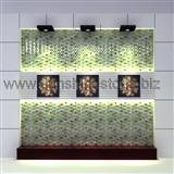green onyx brick arc jade mosaic tv wall project