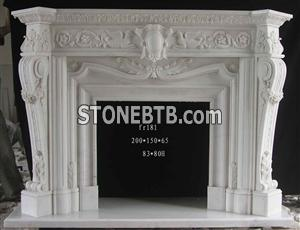 White Fireplace fr181