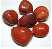 Red riverstone pebble