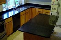 Black Galaxy kitchen countertop and island top