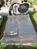 Chinese black granite gravestone