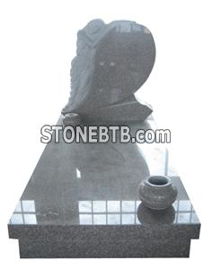 China Red Granite Western Style Monument