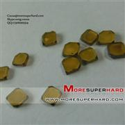 flat shaped monocrystalline diamond plate