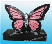 Engraved Butterfly Cemetery Headstone