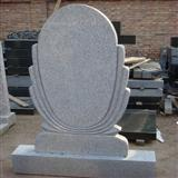 Grey Granite Tombstone, Gravestone, Headstone