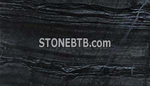 Antique Black Wooden Marble