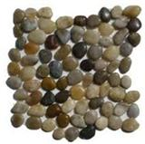 Mixed pebble mosaic tile