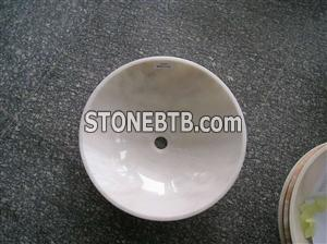 Cremo Marfil-Ivory marble sink