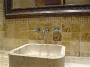 Travertino Oro Basin, Kitchen Backsplash
