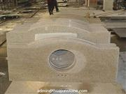 Golden Sand Granite Curved Bathroom Vanity Tops with Sink Cut Out