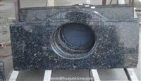 Blue Pearl Granite Curved Bathroom Vanity Tops