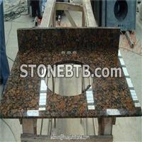 Baltic Brown Granite Bathroom Vanity Tops with Backsplash