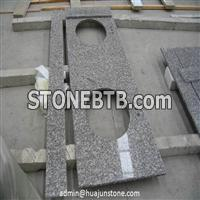 Misty Brown Granite Bathroom Vanity Tops with Double Sink Cut Out
