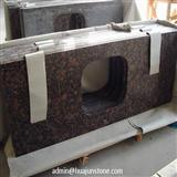 Baltic Brown Granite Kitchen Coutertops with Rectangular Sink Cut Out