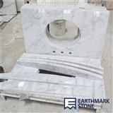 Carrara White Marble Bathroom Vanity Top