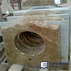 Light Emperador Brown Marble Bathroom Vanity Top