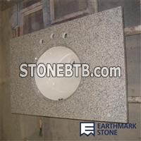 G603 Luna Pearl China Granite Bathroom Vanity Top