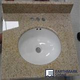 G682 Sunset Gold China Granite Vanity Top with Ceramic Sink