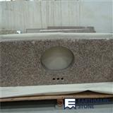 G687 Peach Red China Granite Vanity Top