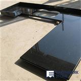 Black Galaxy Granite Countertop, L-Shape Kitchen Countertop