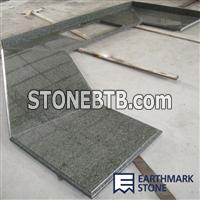 Chengde Green Granite Countertop, U-Shape Kitchen Counterotp