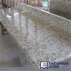 Giallo Ornamental Custom Granite Kitchen Countertop with Splash