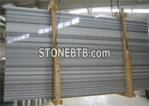 Straight White Line Marble