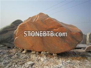 China Cloudy Rosa Marble Landscape Stone