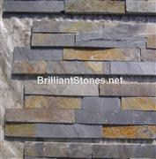 Rusty & Black Slate Cultured Stone(Ledge Stone) Flat Finish