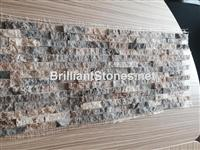 Italy Silver Grey Travertine Mosaic Split Face