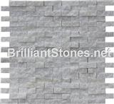 Henan White Marble Mosaic Natural Split Face
