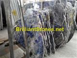 Natural Namib Sodalite Blue Irregular Slab