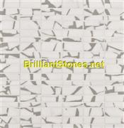 Light Grey Dotted Crystal White Marble Mosaic