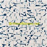 Deep Blue Dotted Crystal White Marble Mosaic