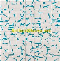 Dotted Sky Blue Thassos White Marble Mosaic