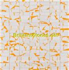 Dotted Orange Thassos White Marble Mosaic