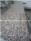 G664 Granite Stair Tread Full Bullnose Edge