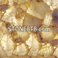 Backlit White Rock Crystal Semiprecious Stone