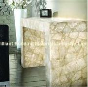 Backlit,White Rock Crystal Table Tops with legs