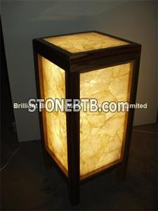 Backlit White Rock Crystal Lamp