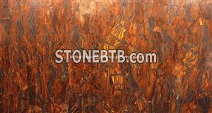 Red Iron Tiger Eyes Semiprecious STone Tiles